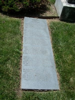 Burial of Barber Poem marker - left side image. Click for full size.