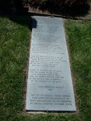 Burial of Barber marker - right side image. Click for full size.