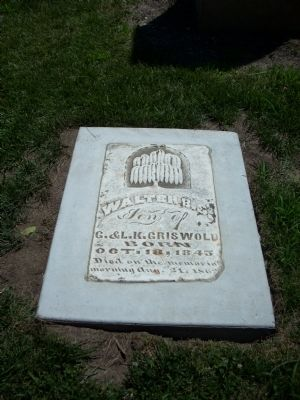 Walter Griswold Headstone image. Click for full size.