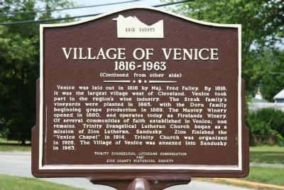 Village of Venice Marker image. Click for full size.