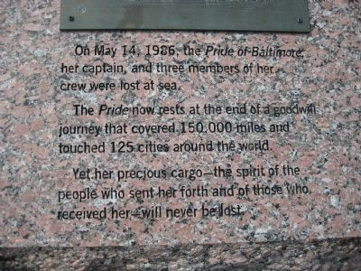 Pride of Baltimore Marker image. Click for full size.