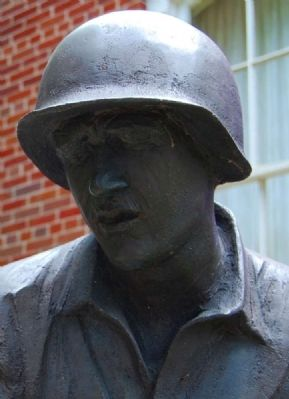 And Then There Was War Statue -<br>Detail of Soldier&#39;s Face image. Click for full size.