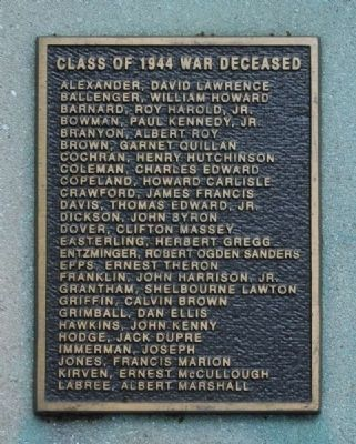 And Then There Was War Marker -<br>Class of 1944 War Deceased (A-L) image. Click for full size.