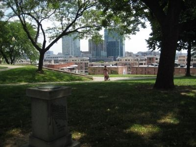 View of Baltimore to the northeast of the marker. image. Click for full size.