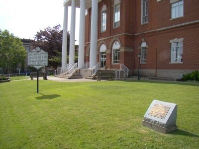 Markers on the Court House Grounds image. Click for full size.