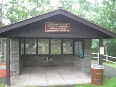 Minisink Battleground Park, Visitor Interpretive Center image. Click for full size.