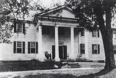 Historical Photograph of Fort Hill<br>Thomas Green Clemson on North Porch image. Click for full size.