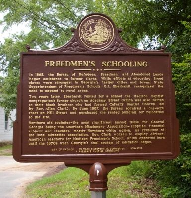Freedmen's Schooling Marker image. Click for full size.