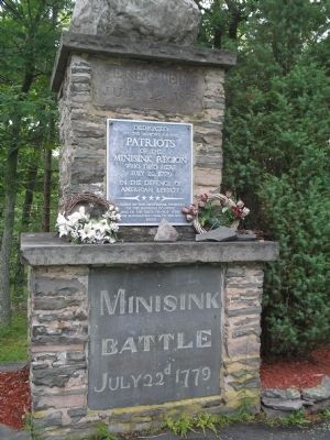 Minisink Battle Monument Marker image. Click for full size.