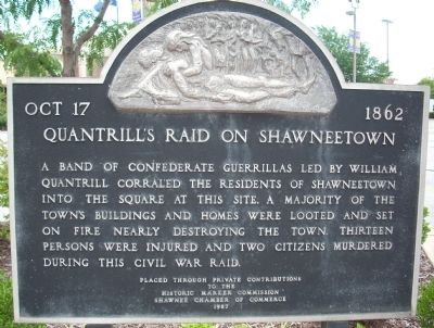 Quantrill's Raid on Shawneetown Marker image. Click for full size.