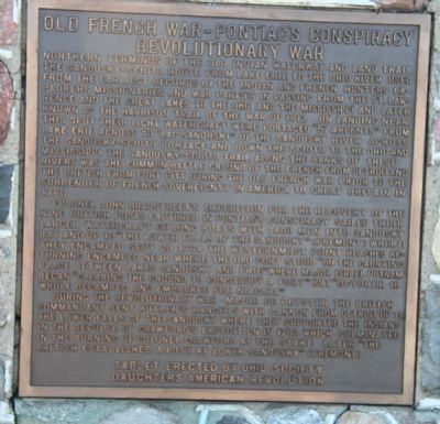Old French War - Pontiac's Conspiracy - Revolutionary War Marker image. Click for full size.