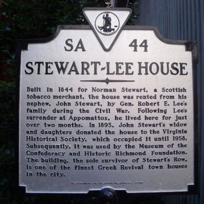 Stewart-Lee House Marker image. Click for full size.