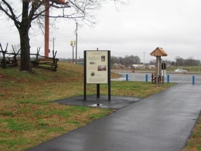 Nathan Bedford Forrest Kiosk near the Parking Lot image. Click for full size.