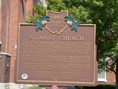St. Mary Church Marker image. Click for full size.