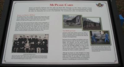 McPeake Cabin Marker image. Click for full size.