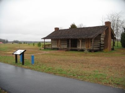 McPeake Cabin and Marker image. Click for full size.