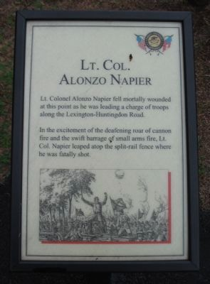 Lt. Col. Alonzo Napier Marker image. Click for full size.