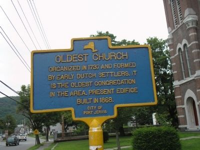 Oldest Church Marker image. Click for full size.