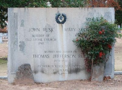 John Rusk Tombstone<br>Erected by the State of Texas image. Click for full size.