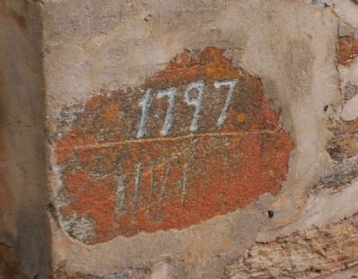 Date (1797) Carved into Brick image. Click for full size.