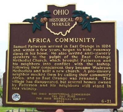 Africa Community Marker (Side A) image. Click for full size.