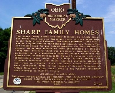 Sharp Family Homes Marker (Side A) image. Click for full size.