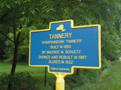 Tannery Marker image. Click for full size.