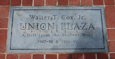 Walter T. Cox, Jr. Plaza Marker image. Click for full size.