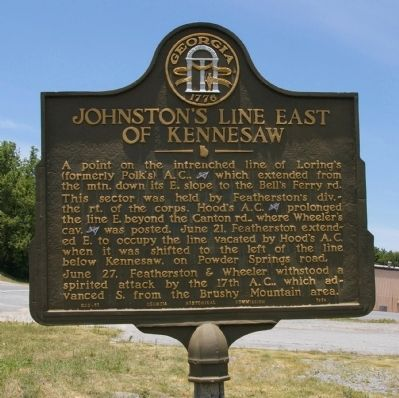 Johnston's Line East of Kennesaw Marker image. Click for full size.