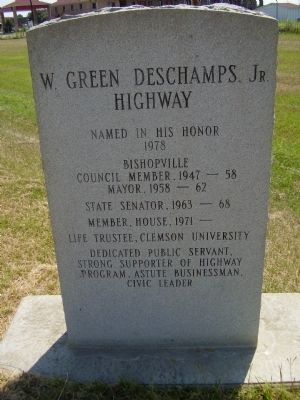 W. Green Deschamps, Jr. Highway Marker image. Click for full size.