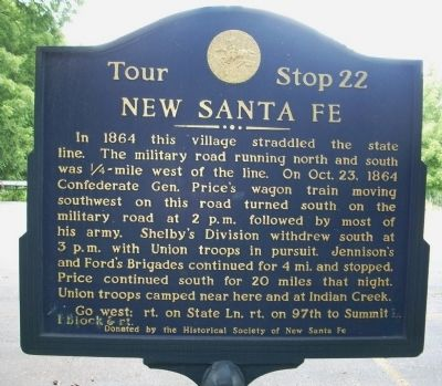 Closeup of New Santa Fe Marker image. Click for full size.