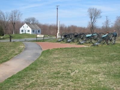 Set of Interpretive Markers near the Artillery Display image. Click for full size.