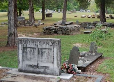 "Oolenoy Baptist Church Cemetery -<br>Examples of ""Slot and Slab"" Tombstones image. Click for full size."