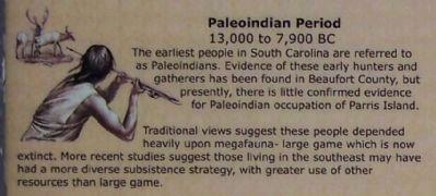 Upper left side picture; Paleoindian Period image. Click for full size.