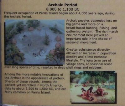 Parris Island Indians, Lower left side pictures; Archaic Period image. Click for full size.