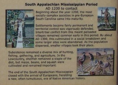 Lower right side pictures; South Appalachian Mississippian Period image. Click for full size.