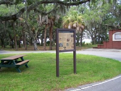 Parris Island Indians Marker, at the Balleau Wood Rd. circle image. Click for full size.