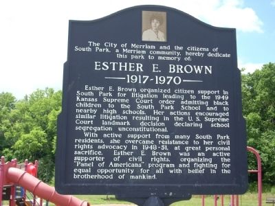 Esther E. Brown Marker image. Click for full size.
