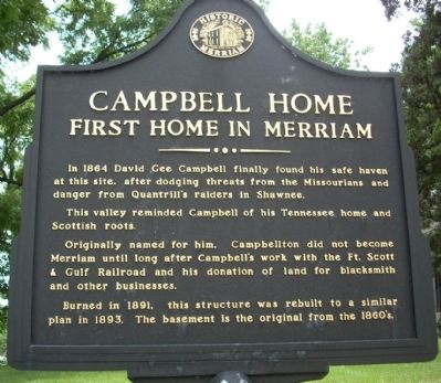 Campbell Home Marker image. Click for full size.