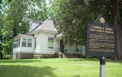 Photo of the Campbell Home & Marker image. Click for full size.