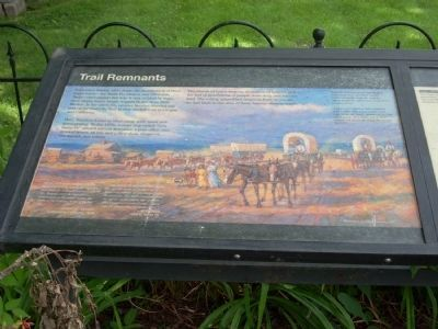Trail Remants Marker </b>(Left NPS panel) image. Click for full size.