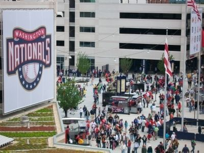3 markers in the entrance to Nationals Park image. Click for full size.