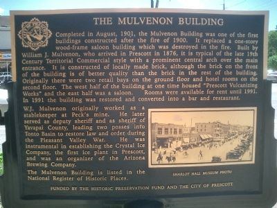 The Mulvenon Building Marker image. Click for full size.