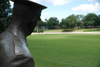 Bowman Field (1900) from the Cadet Statue -<br>Clemson University Historic District #1 image. Click for full size.