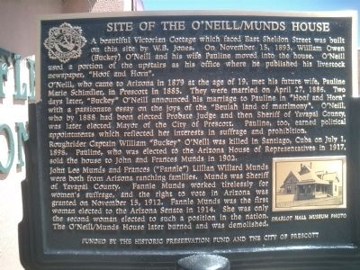 Site of the O'Neill/Munds House Marker image. Click for full size.