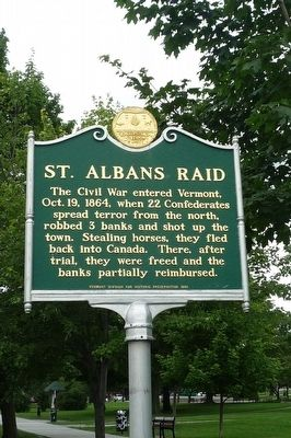 St. Albans Raid Marker image. Click for full size.