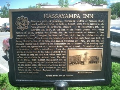 Hassayampa Inn Marker image. Click for full size.