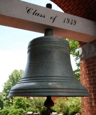 Old Tillman Hall Bell image. Click for full size.
