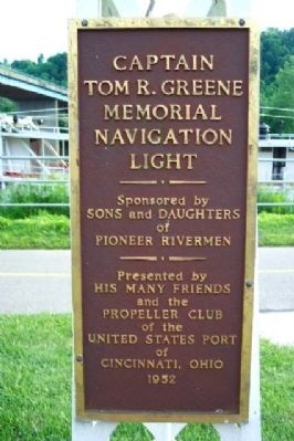 Captain Tom R. Greene Memorial Navigation Light Marker image. Click for full size.