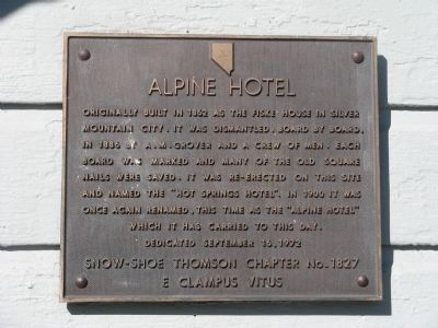 Alpine Hotel Marker image. Click for full size.